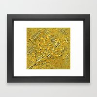 Embossed Floral Framed Art Print