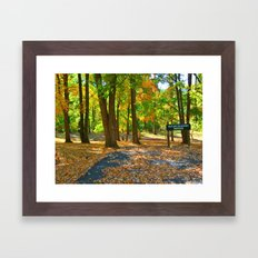 Its Awesome Autumn Now! Framed Art Print