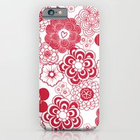 iPhone & iPod Case featuring giving hearts giving hope: red garden by Vy La