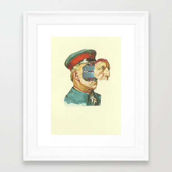 la Pantera Fuerte Framed Art Print
