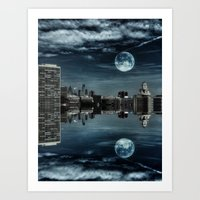 Night in the Reflection Art Print