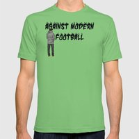 AGAINST MODERN FOOTBALL Mens Fitted Tee Grass SMALL