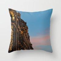 Harrod's Department Store London Throw Pillow