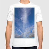 Column Cloud Mens Fitted Tee White SMALL