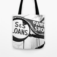 Old Pawn Shop Sign Tote Bag