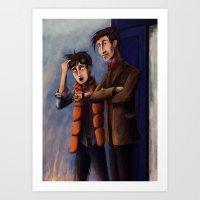 Time's Heroes Art Print