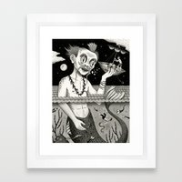 Hijacking on the High Sea Framed Art Print