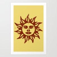 Orange Sunshine Art Print