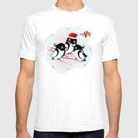Winter Birds Christmas W… Mens Fitted Tee White SMALL