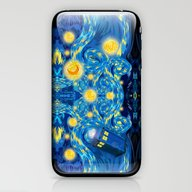 Blue Phone Box Starry Th… iPhone & iPod Skin