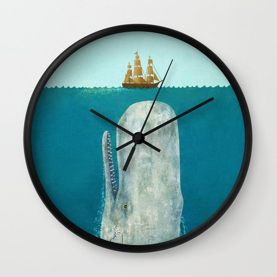 The Whale - square format Wall Clock
