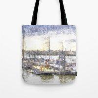 River Thames Boat Community Sketch Tote Bag