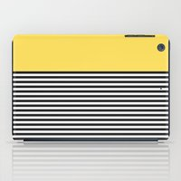 STRIPE COLORBLOCK {LEMON} iPad Case