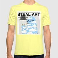 STEAL ART Mens Fitted Tee Lemon SMALL