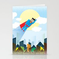 superman Stationery Cards featuring SUPERMAN by voskovski