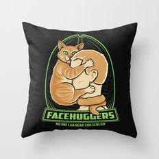 Facehuggers  Throw Pillow