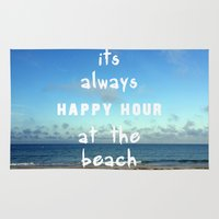 Happy Hour at the Beach Rug