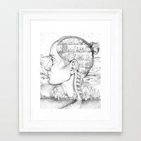 Mind Mansion Mandala for Memory Meditation  Framed Art Print