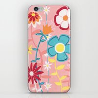 Flowers on Pink iPhone & iPod Skin