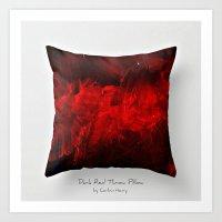 Dark Red Throw Pillow Ar… Art Print