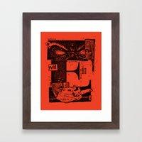 E for evil Framed Art Print
