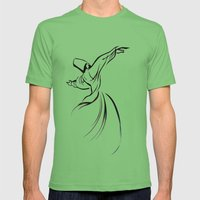 Sufi Meditation Mens Fitted Tee Grass SMALL