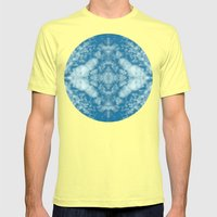 Beautiful cloud kaleidoscope Mens Fitted Tee Lemon SMALL
