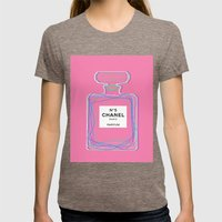 no5 pink Womens Fitted Tee Tri-Coffee SMALL