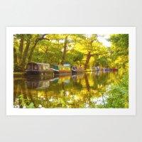 Wey Navigation Canal Art Print