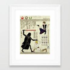 hero-glyphics: The Force Framed Art Print