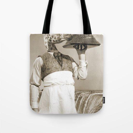 giraffe waiter  Tote Bag