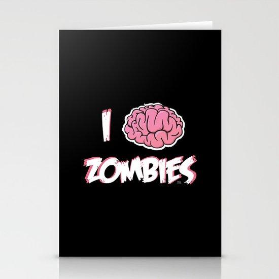 I Brain (Love) Zombies Stationery Card