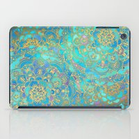 Sapphire & Jade Stained Glass Mandalas iPad Case