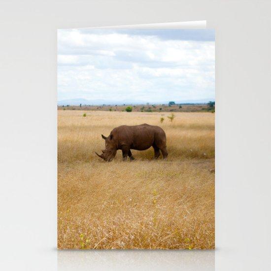 Rhino. Stationery Card