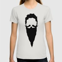 Homeless Wizard Womens Fitted Tee Silver SMALL