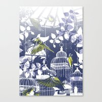 Green Finch Green House Canvas Print