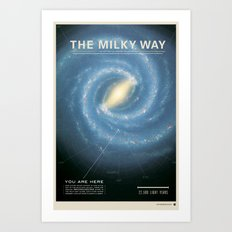THE GALAXY - Milky Way | Space | Time | Stars | Science | Planets Art Print