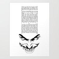 The Smiling Man 2 Art Print