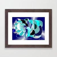 Blueness Framed Art Print