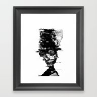 Framed Art Print featuring When I Try To Remember  by PandaGunda