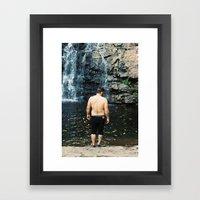 Waterfall Wednesdays Framed Art Print