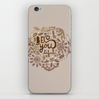 Be You Tiful (gold edition) iPhone & iPod Skin