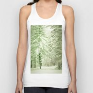 Winter Pine Trees Unisex Tank Top