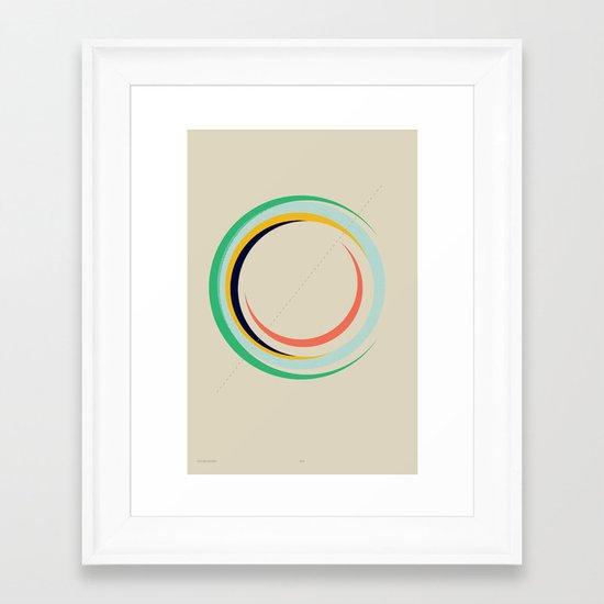 Future Globes 004 — Matthew Korbel-Bowers Framed Art Print