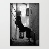 The swing (thinking) Canvas Print