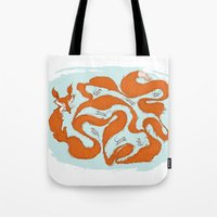 Fox Tail Maze Tote Bag