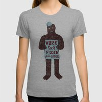 Work For Womens Fitted Tee Athletic Grey SMALL