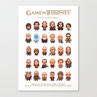 Game Of Thrones :: Pixel… Canvas Print