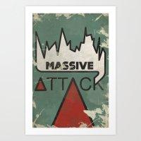 Massive Attack Art Print