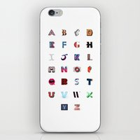 Illustrated Letters - Set One iPhone & iPod Skin